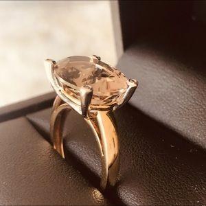 Jewelry - 🔥 FINAL SALE- Genuine Smoky Quartz, Diamond,Gold